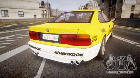 BMW E31 850CSi 1995 [EPM] E-Post Brief para GTA 4 traseira esquerda vista