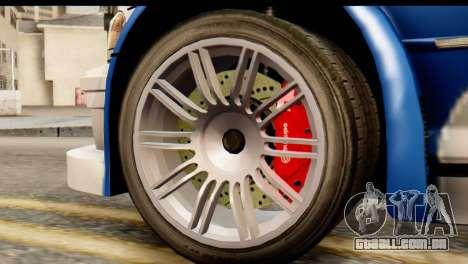BMW M3 E46 GTR NFS MW para GTA San Andreas traseira esquerda vista
