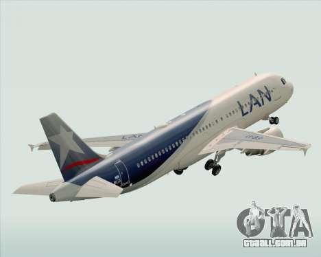 Airbus A320-200 LAN Argentina para GTA San Andreas vista superior