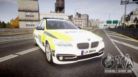BMW 530d F11 Norwegian Police [ELS] para GTA 4