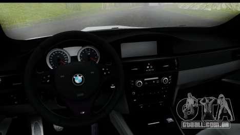 BMW M3 E92 Hamann Edition para GTA San Andreas traseira esquerda vista