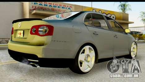 Volkswagen Bora GLI 2010 Tuned para GTA San Andreas esquerda vista