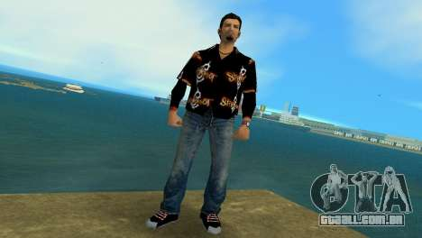 Slipknot 666 Shirt para GTA Vice City segunda tela