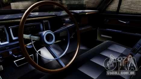 Lincoln Continental para GTA San Andreas vista direita