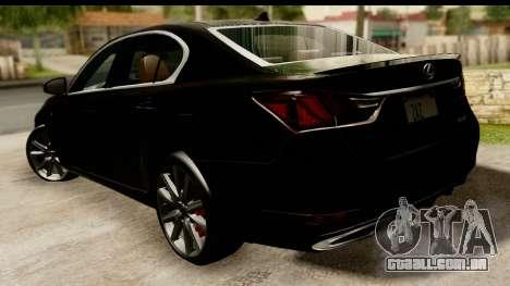 Lexus GS350 Indonesian Police para GTA San Andreas esquerda vista