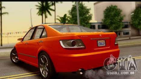 GTA 5 Karin Asterope IVF para GTA San Andreas esquerda vista