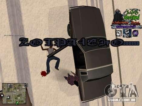 C-HUD Les Alterman para GTA San Andreas quinto tela