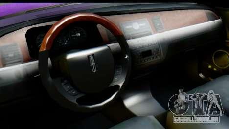 Lincoln Town Car 2010 para GTA San Andreas vista direita