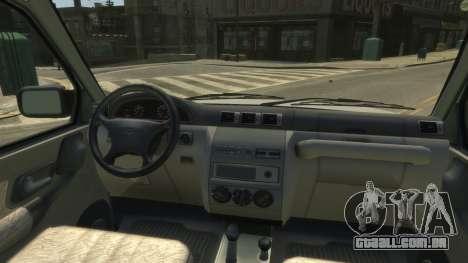 UAZ Patriot Pickup v.2.0 para GTA 4 vista de volta