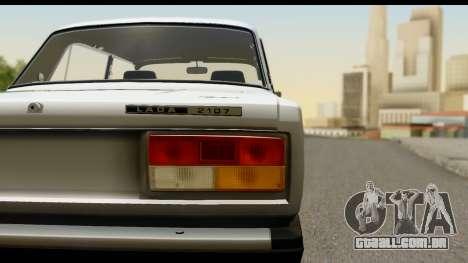 VAZ 2107 de Fluxo para GTA San Andreas traseira esquerda vista