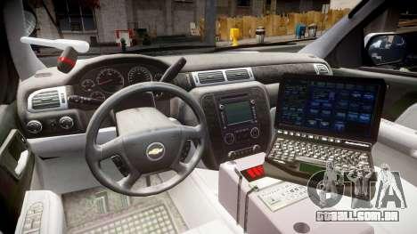 Chevrolet Tahoe 2010 Police Alderney [ELS] para GTA 4 vista de volta