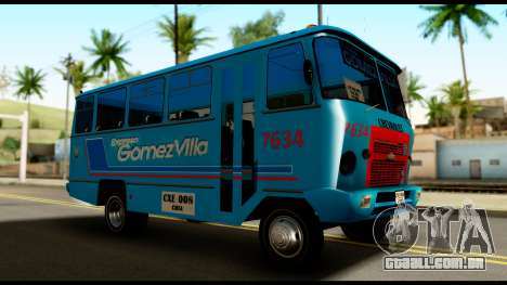 Chevrolet Bus para GTA San Andreas vista direita