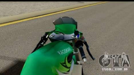 Kawasaki Ninja R Drag para GTA San Andreas traseira esquerda vista