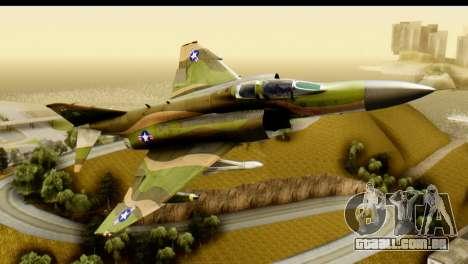 F-4 Vietnam War Camo para GTA San Andreas esquerda vista