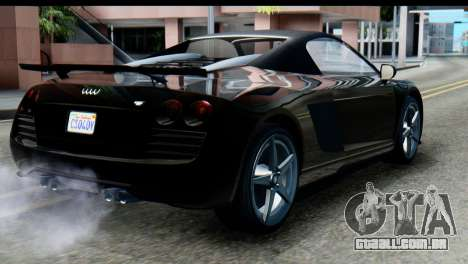 GTA 5 Obey 9F Cabrio SA Mobile para GTA San Andreas esquerda vista