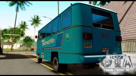 Chevrolet Bus para GTA San Andreas esquerda vista