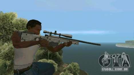 Metal AWP L96A1 para GTA San Andreas por diante tela