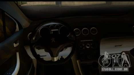 Peugeot 308 ENS Tuning para GTA San Andreas vista traseira