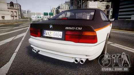 BMW E31 850CSi 1995 [EPM] Carbon para GTA 4 traseira esquerda vista