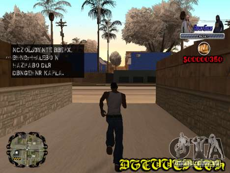 C-HUD Bomj Gang para GTA San Andreas segunda tela