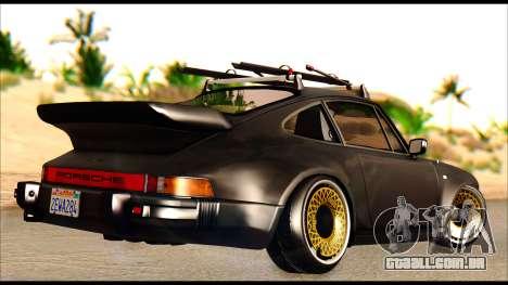 Porsche 911 1980 Winter Release para GTA San Andreas traseira esquerda vista