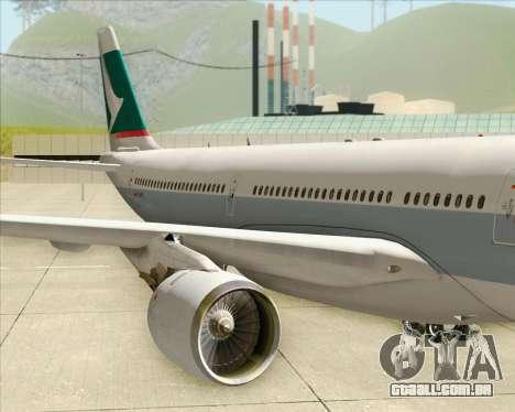 Airbus A330-300 Cathay Pacific para vista lateral GTA San Andreas