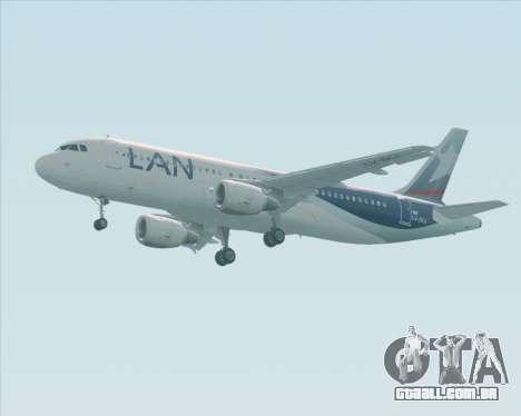 Airbus A320-200 LAN Argentina para GTA San Andreas vista traseira
