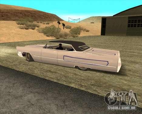 Cadillac DeVille Lowrider 1967 para GTA San Andreas vista interior
