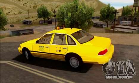 Ford Crown Victoria NY Taxi para GTA San Andreas vista traseira