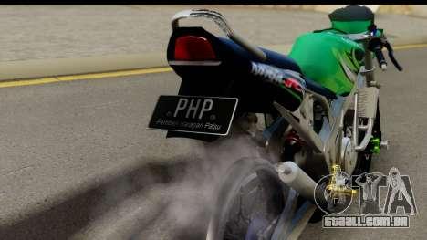 Kawasaki Ninja R Drag para GTA San Andreas vista direita