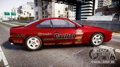 BMW E31 850CSi 1995 [EPM] Castrol Red para GTA 4 esquerda vista