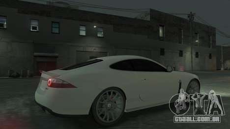 Jaguar XK v.2.0 para GTA 4 vista interior