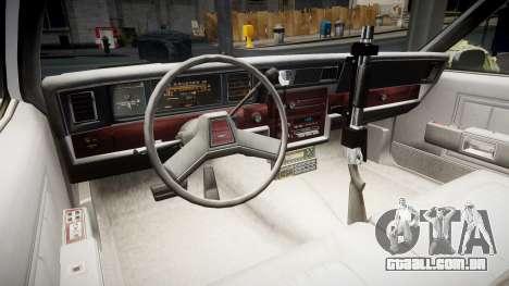 Chevrolet Impala 1985 LCPD [ELS] para GTA 4 vista de volta
