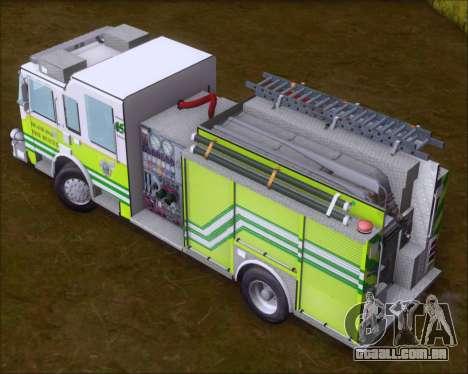 Pierce Arrow XT Miami Dade FD Engine 45 para GTA San Andreas vista interior