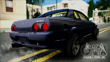 Nissan Skyline GT-S R32 para GTA San Andreas traseira esquerda vista