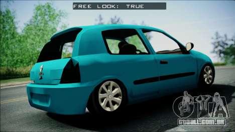 Renault Clio Beta v1 para GTA San Andreas traseira esquerda vista