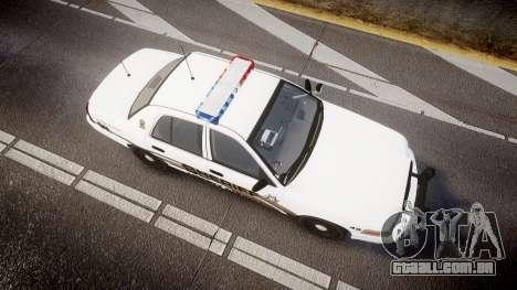 Ford Crown Victoria LCSO [ELS] Edge para GTA 4 vista direita