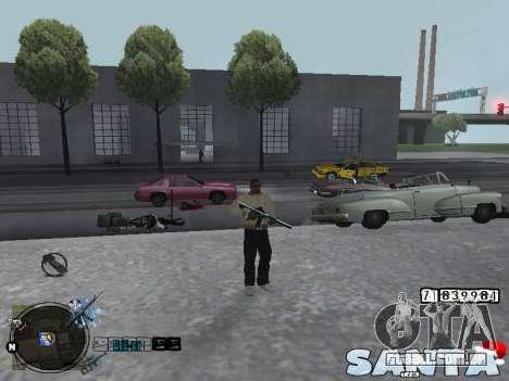 C-HUD Santa para GTA San Andreas segunda tela