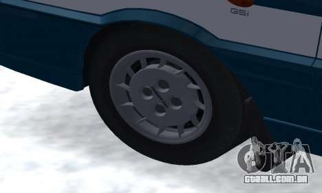 Daewoo-FSO Polonez Kombi 1.6 GSI Police 2000 para GTA San Andreas vista inferior