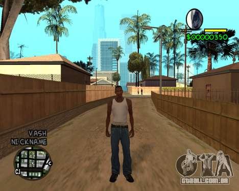 C-HUD by Tawerhudov para GTA San Andreas terceira tela
