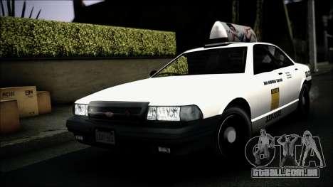 Taxi Vapid Stanier II from GTA 4 IVF para GTA San Andreas vista superior