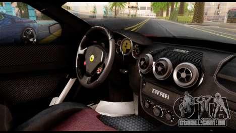Ferrari F430 Scuderia para GTA San Andreas vista traseira