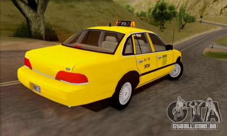 Ford Crown Victoria NY Taxi para GTA San Andreas vista interior