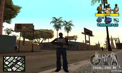 Tawer Getto HUD para GTA San Andreas segunda tela