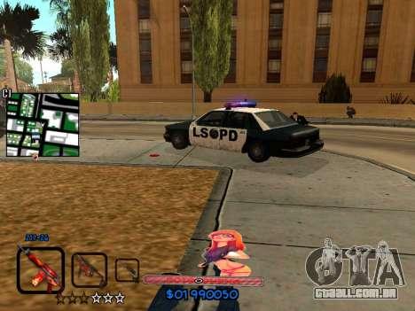 C-HUD by HudMud para GTA San Andreas quinto tela