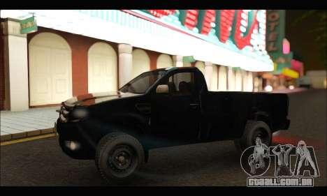 Ford Ranger Cabina Simple 2013 para GTA San Andreas esquerda vista