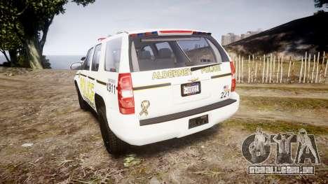 Chevrolet Tahoe 2010 Police Alderney [ELS] para GTA 4 traseira esquerda vista