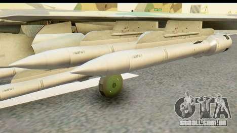 SU-35 Flanker-E ACAH para GTA San Andreas traseira esquerda vista