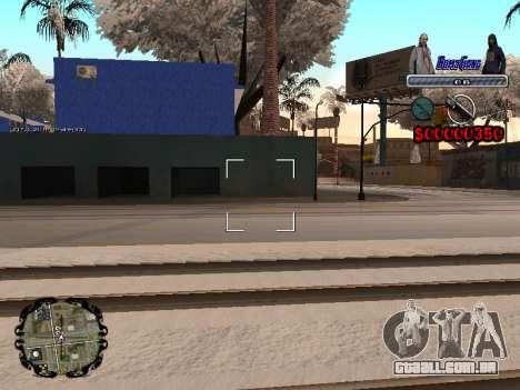 C-HUD Bomj Gang para GTA San Andreas quinto tela