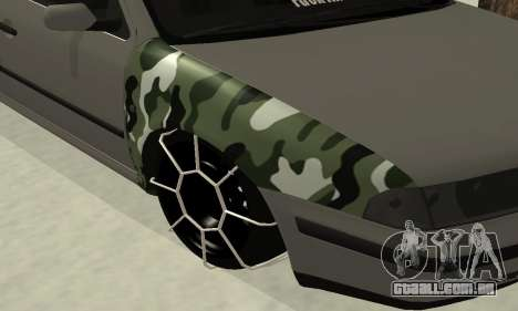 Skoda Octavia Winter Mode para vista lateral GTA San Andreas
